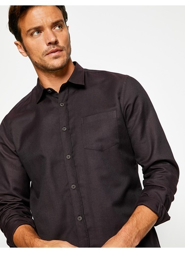 Cep Detaylı Gömlek-Koton
